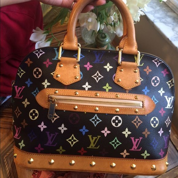 Louis Vuitton multicolor Louis Vuitton alma multicolor , good condition just regular water stain on the bottom , need to go make me an offer ❤️ Louis Vuitton Bags Satchels