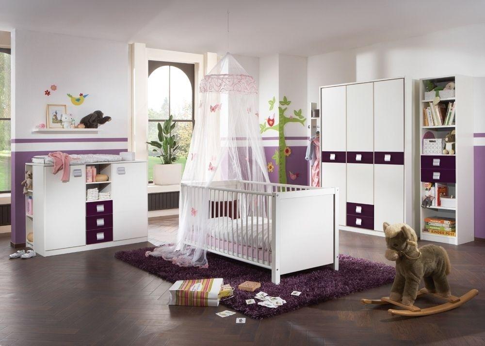 Babyzimmer jette ~ Babyzimmer komplett jette kinderzimmer tlg weiß mit brombeer