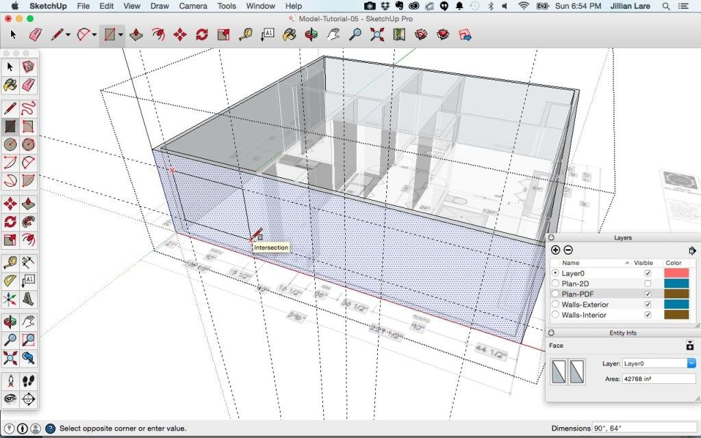Draw A 3d House Model In Sketchup From A Floor Plan With Images