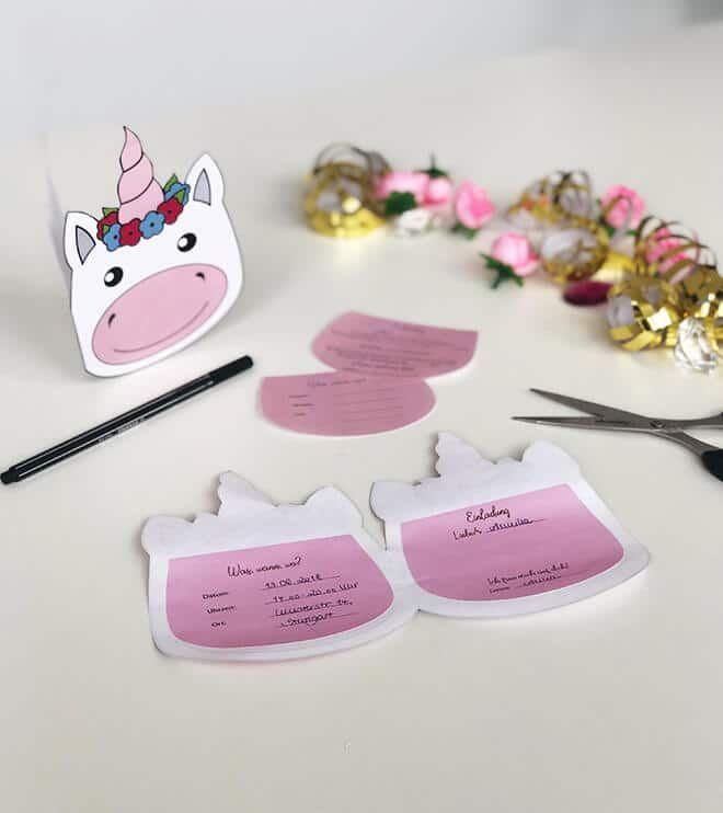 Photo of Unicorn Folded Invitation | Naughty face