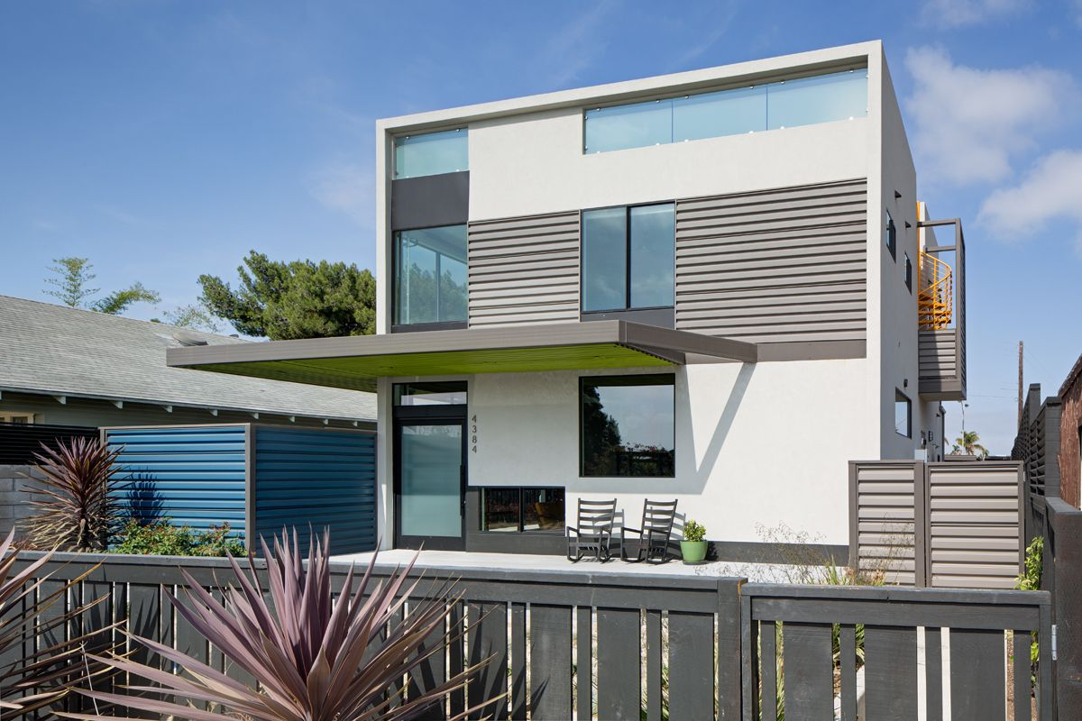 Exterior design for home  Photo  of  in A Dull Stucco Home Becomes a Modern California