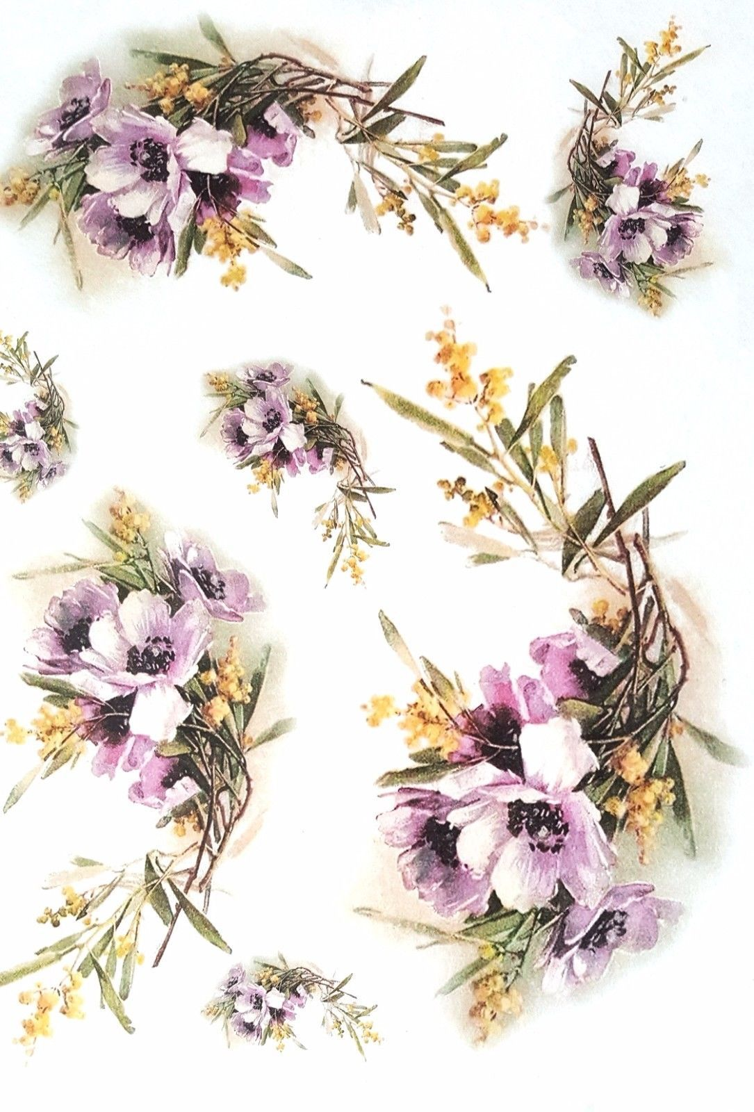 Rice Paper For Decoupage Scrapbooking Sheet Craft Vintage Garden Flowers 1 2