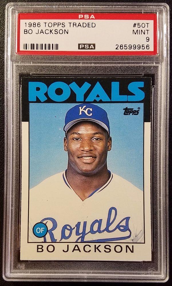 1986 Topps Traded Bo Jackson Rookie Card Major League