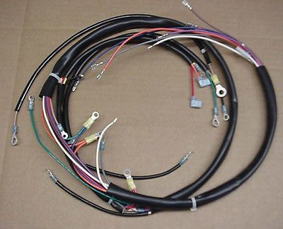 New 1973-1977 FLH Harley-Davidson Main Wiring Harness | mine ... on
