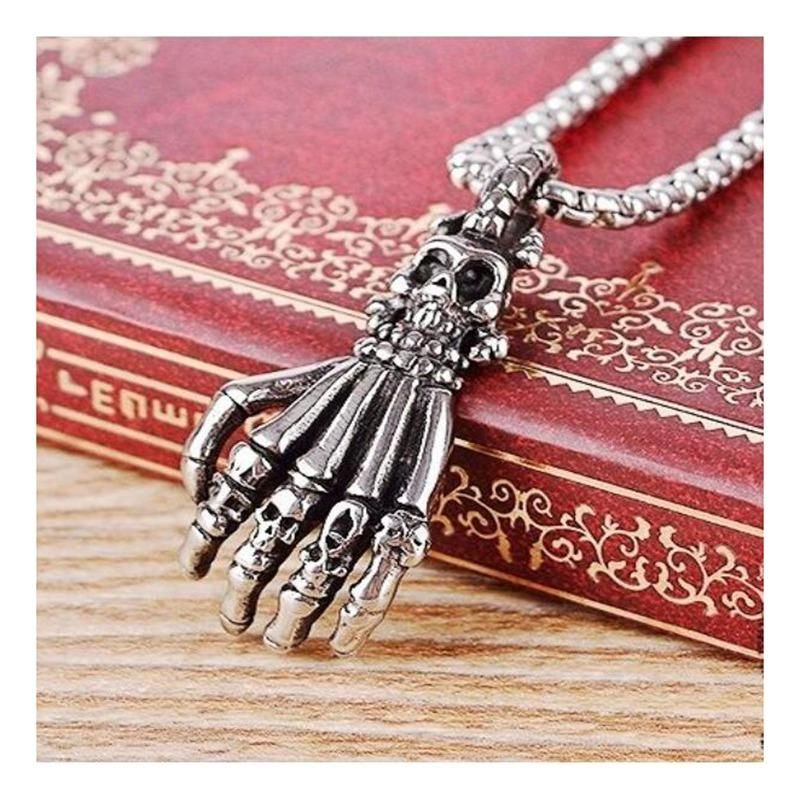 """Thing"" Skeleton Hand Necklace Hand necklace, Skeleton"