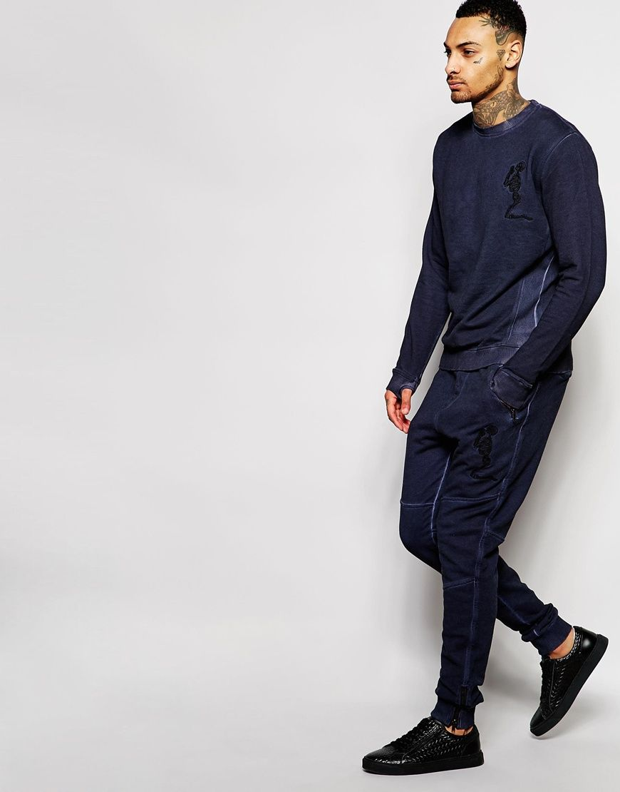 Image 4 of Religion Oil Wash Tracksuit Joggers