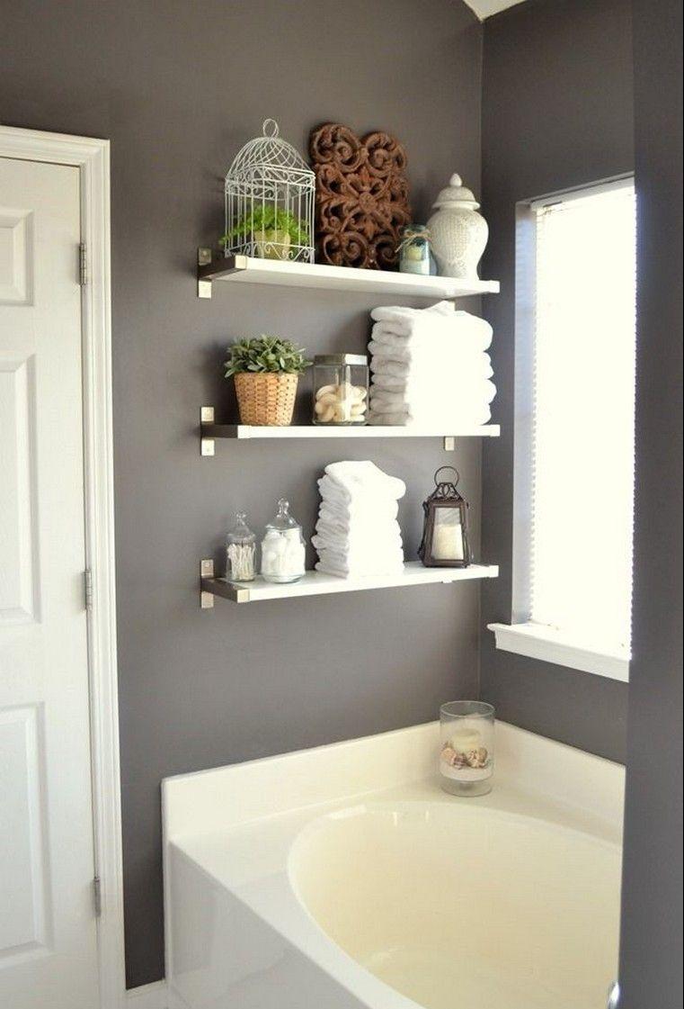 Etagere Salle De Bain Ikea Rangement Pas Cher Bathroom Shelf Decor Bathroom Decor Bathroom Makeovers On A Budget