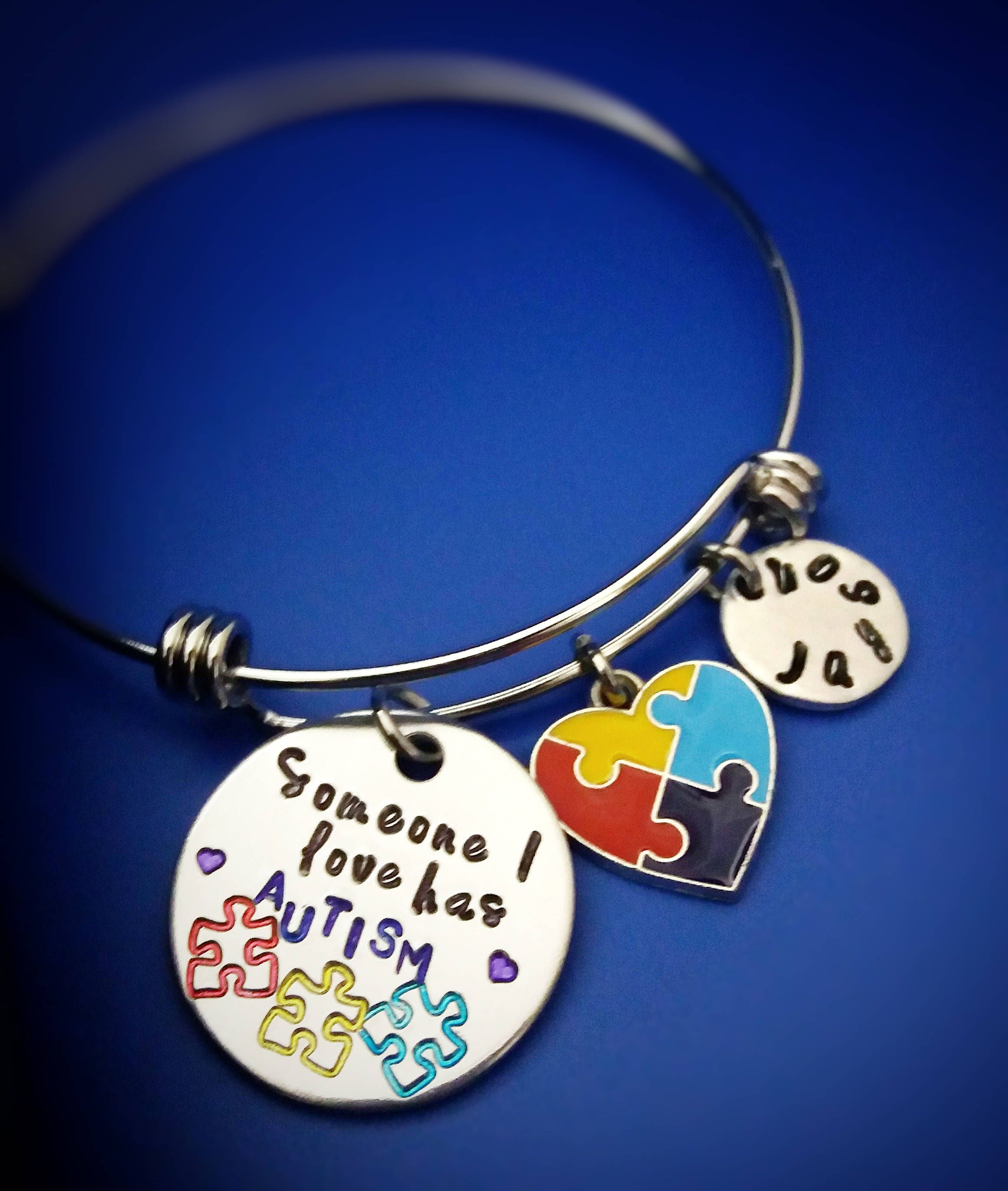 autism piece grace puzzle for cord and awareness jigsaw ladies ltd products bracelet blue butler