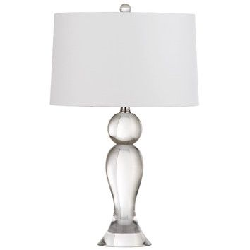 Trophy 24 H Table Lamp With Empire Shade Wayfair Table Lamp Crystal Table Lamps Lamp
