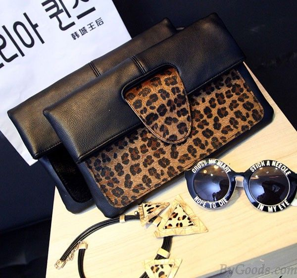 Ladies Horsehair Leopard High-end Packet Envelope Bag only $30.99 from ByGoods.com