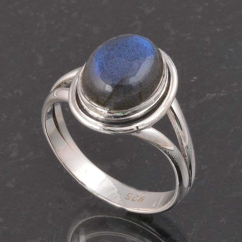 BLUE FIRE LABRADORITE 925 SOLID STERLING SILVER FASHION RING 4.60g DJR6385 #Handmade #Ring