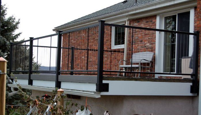 Fortress Vertical Cable Railing installed with Fascia Brackets ...