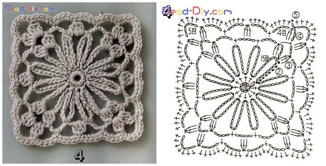 Crochet Granny Squares | Crochet | Pinterest | Patrones, Cuadrados y ...