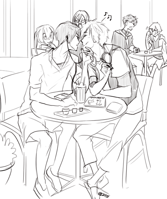 """rezh0: Makoharu Date """" Redrew that official promo art pic thing because. """""""