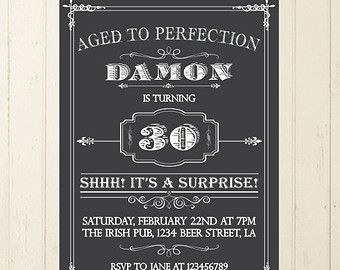 Beer Invitation Whisky Man Birthday By RebeccaDesigns22