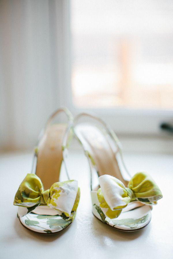 Bow-adorned heels. Photography by zacxwolf.com, Shoes by katespade.com
