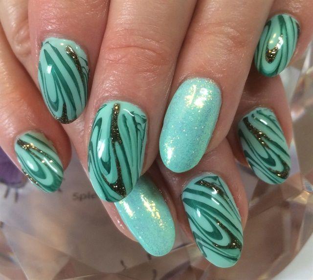 Day 62: Green Swirls Nail Art | Swirl nail art, Nail nail and Hair ...