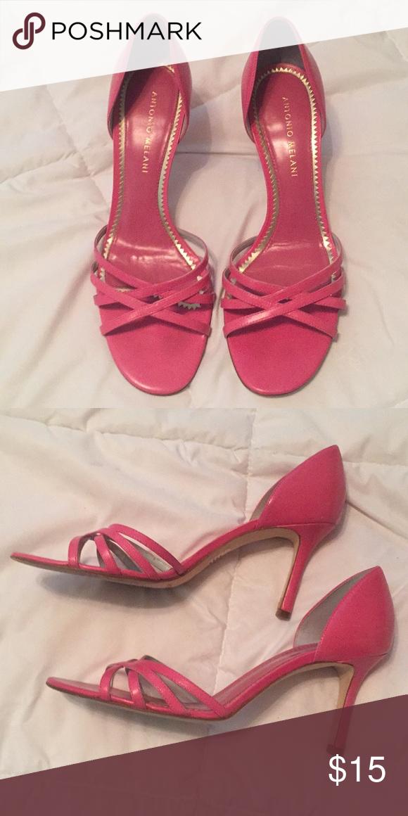 5e79635beb2f Pink heels Pink short heels strapped sandals. ANTONIO MELANI Shoes Sandals