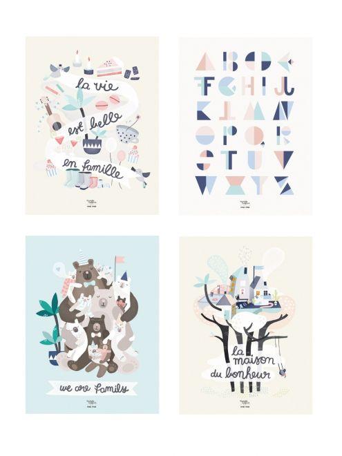 Extrêmement Affiche La vie est belle en famille - Michelle Carlslund x émoi  CH29