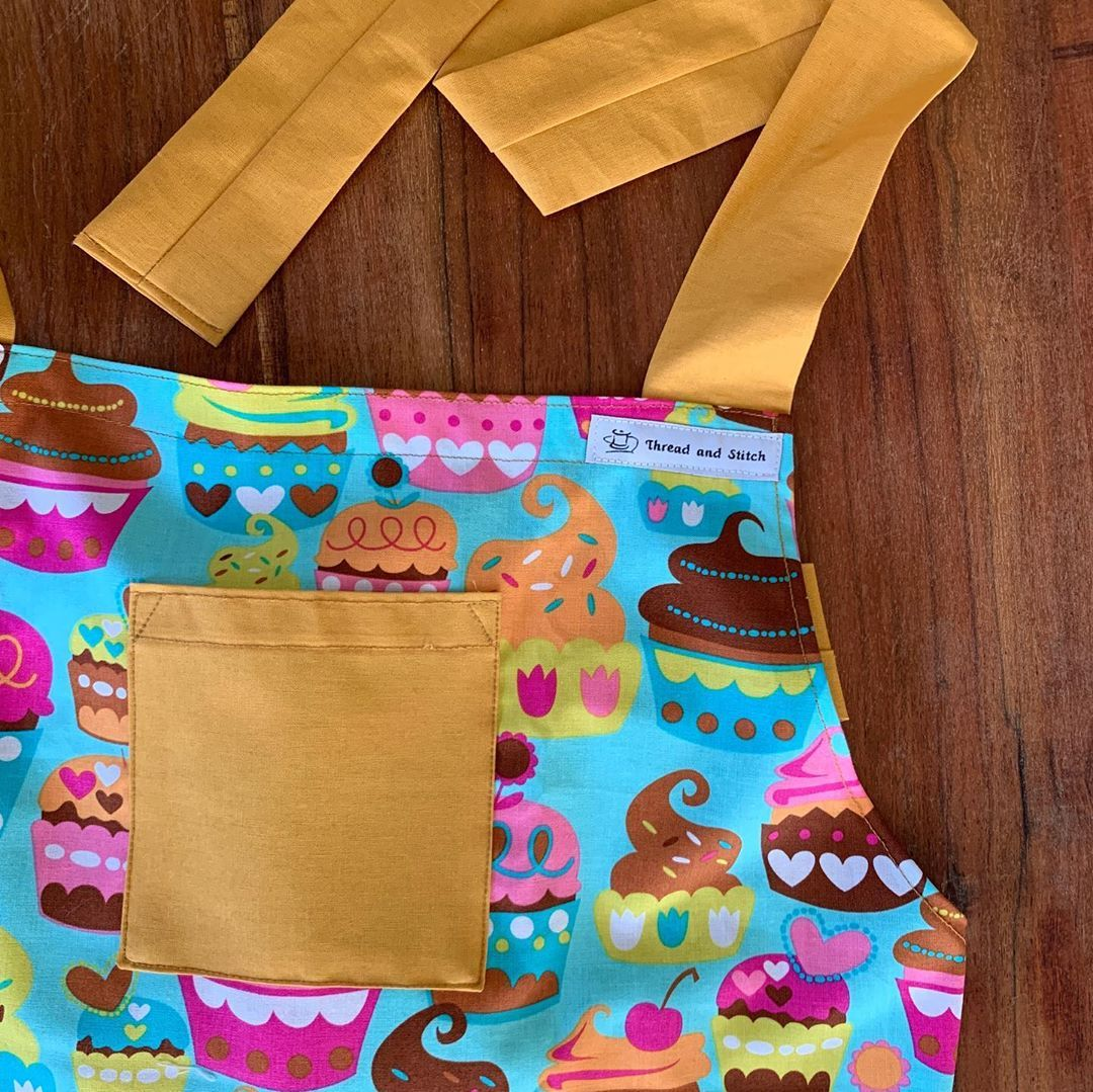 Cupcake dream 🧁 This apron makes you want to get into the kitchen and cook up a storm. Yum! . DM me if you would like to purchase this inspiring cupcake apron .
