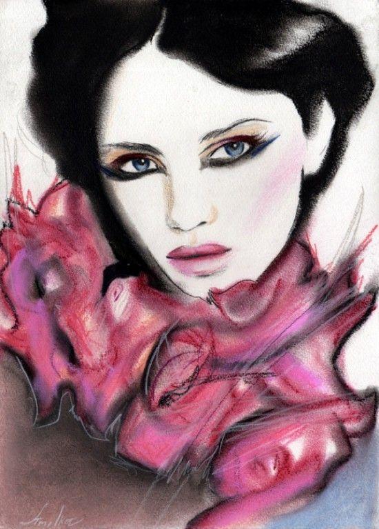 olga vercholamova art | Amilka Olga Vercholamova Portraits Art (4)