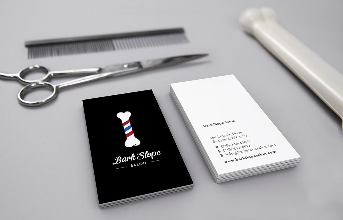 Bark Slope Salon Leta Sobierajski Salon business cards