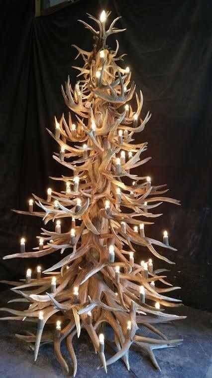 Ohh Deer it's Christmas Time. I think this is needed here at Antlers on the  Creek! - Pin By Angel Beard On Christmas Trees Antlers, Christmas, Antler