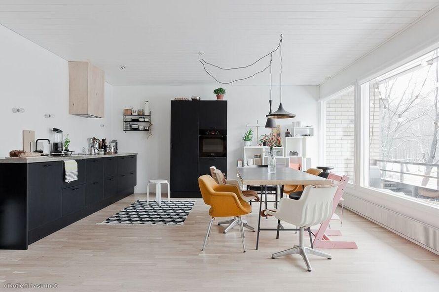 Nykydesignia ja klassikoita 70-luvun kodissa | Oikotie - Kotiin