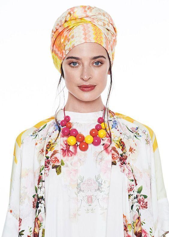 Fun, yellow print turban. Turban hats, TIchels, Fashion turbans ...