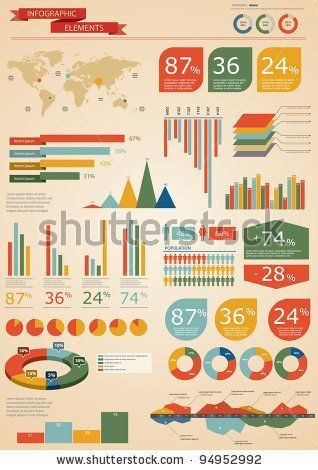 Retro infographics set world map and information graphics stock retro infographics set world map and information graphics stock vector 94952992 shutterstock gumiabroncs Image collections