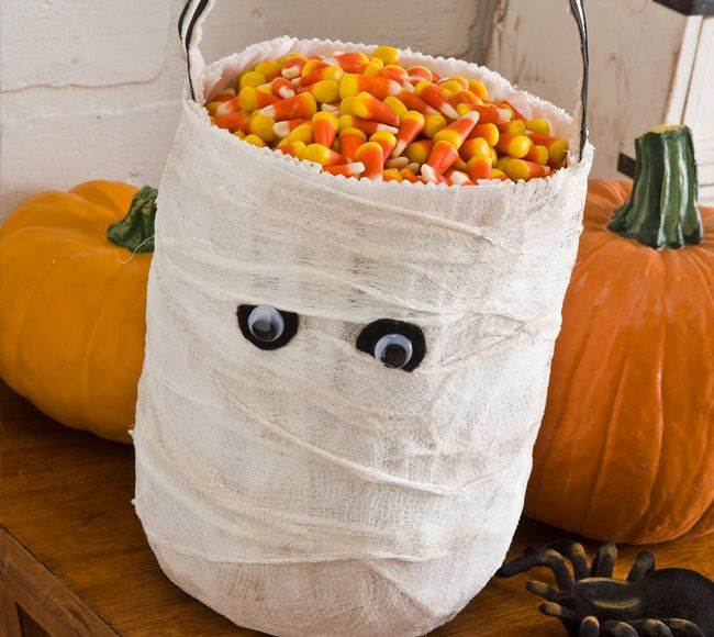 Mummy Trick or Treat Bag Bag, Halloween ideas and Holidays - halloween treat bag ideas