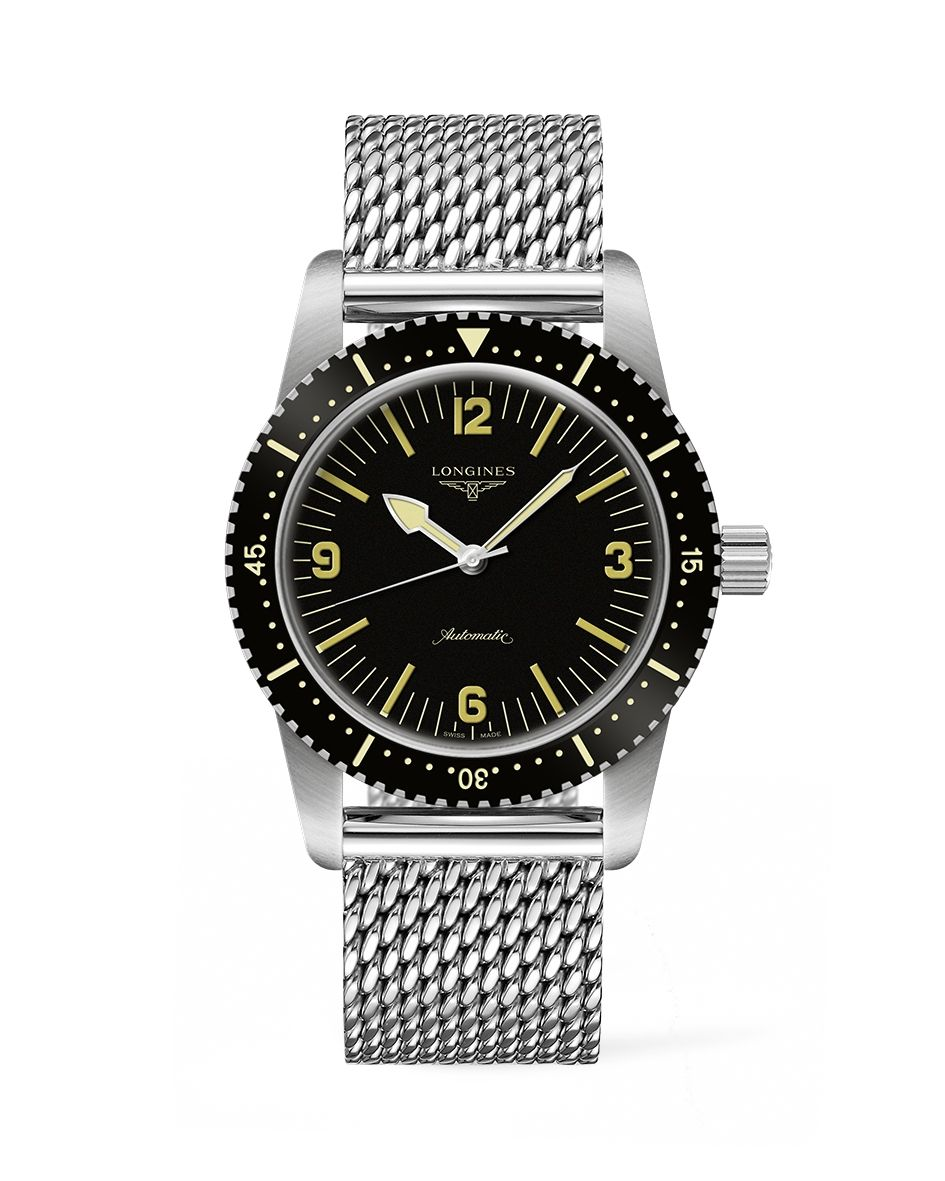 Longines Skin Diver Watch with milanaise bracelet  3f48015339
