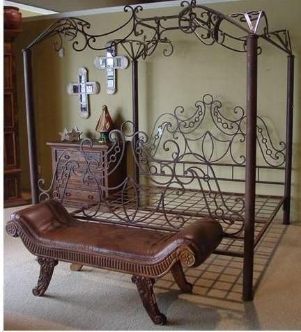 13 rustic four poster beds ideas