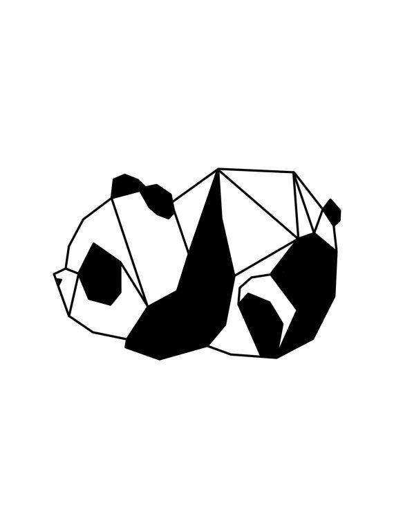 Origami Panda Print Bear By LolaLeighDesigns