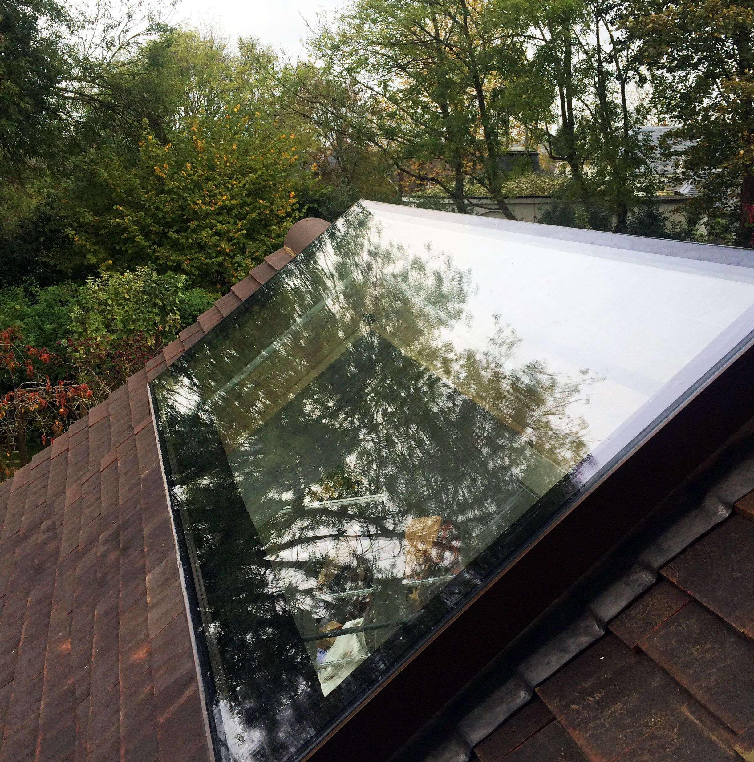 Dual Pitched rooflight - with frameless ridge | vitral ...