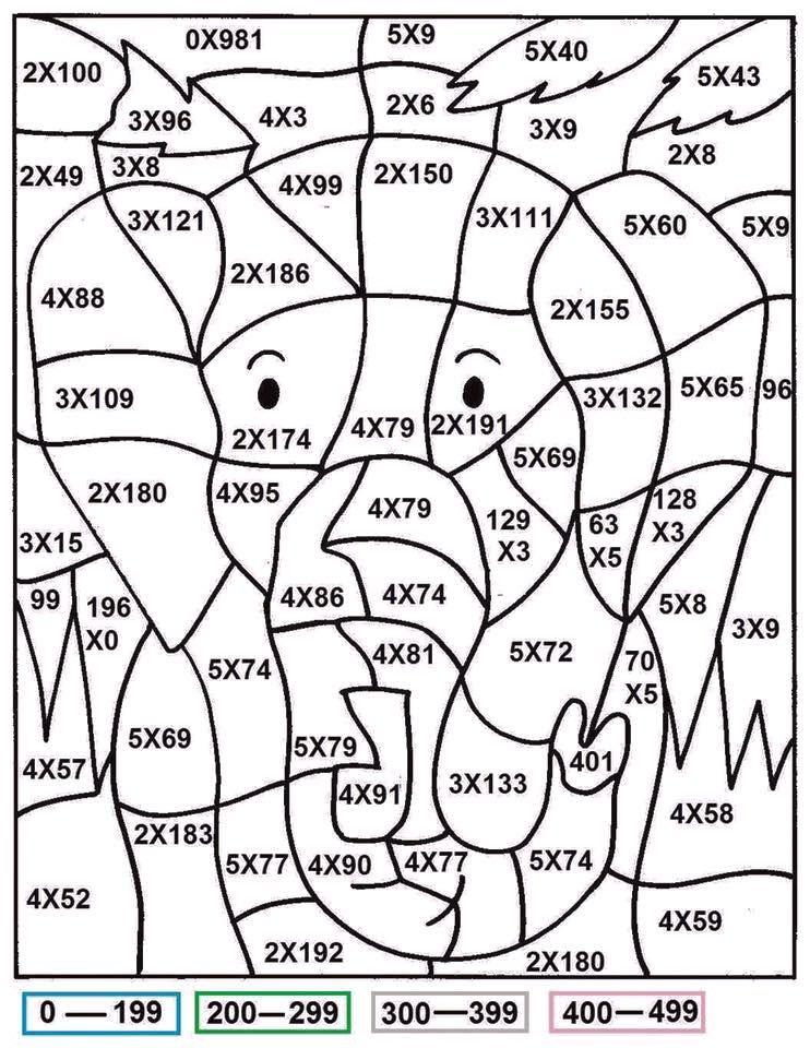 Denendi - 1. Sınıf matematik | раскраски с примерами | Pinterest ...