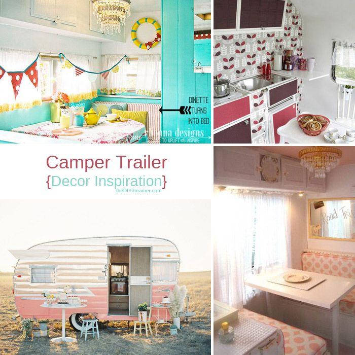 Trailer decoration ideas camper decor campers Travel trailer decorating ideas