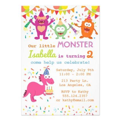 Little monster birthday party invitation little monster birthday party invitation birthday gifts giftideas present stopboris Choice Image