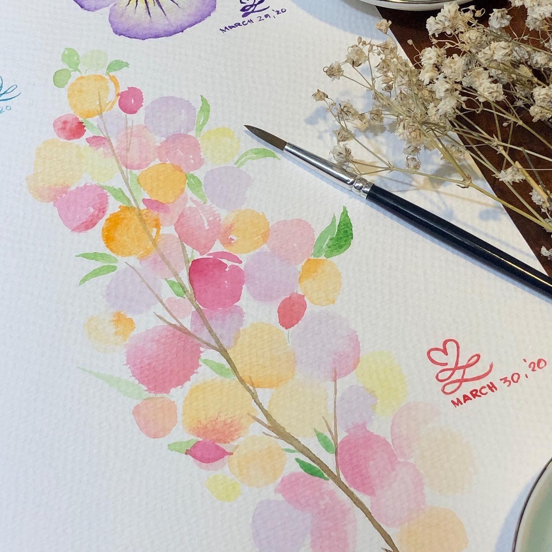 #watercolor #prang #montmartre  #painting  #art  #mindfulness #drawing #watercolorpainting   #pencil #fabercastell  #derwentpastel #sketch #staedtler  #derwentinktense #winsorandnewton #koi #kuretakezig