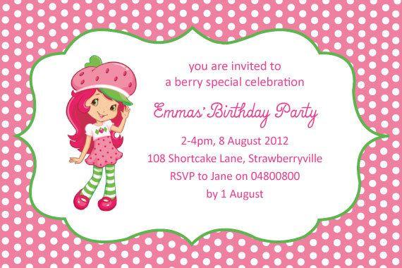 Strawberryshortcakebirthdaypartybypolkadotdazepartyonetsy items similar to strawberry shortcake birthday party invitation on etsy filmwisefo Images
