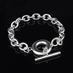 Women's Fashion Personality TO Buckle Silver Bracelet
