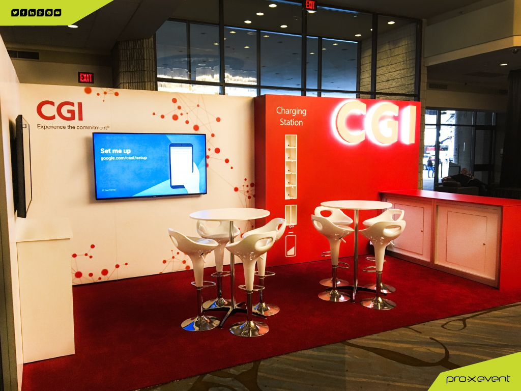 CGI's Official Page custom trade show event booth for