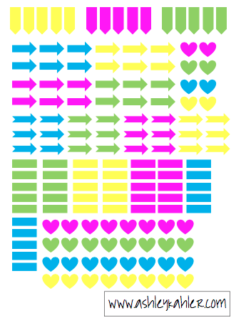 """Heres some bright colored flags perfectly sized in """"mini"""" for your filofax personal or any other personal sized planner. Happy Planning!"""