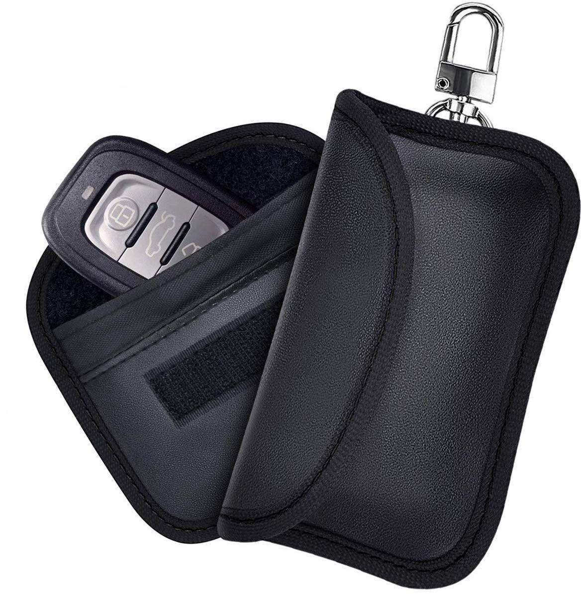 Schlüsseltasche Schlüsseletui Klappschlüssel Schlüssel LEDER Weiss für Mini