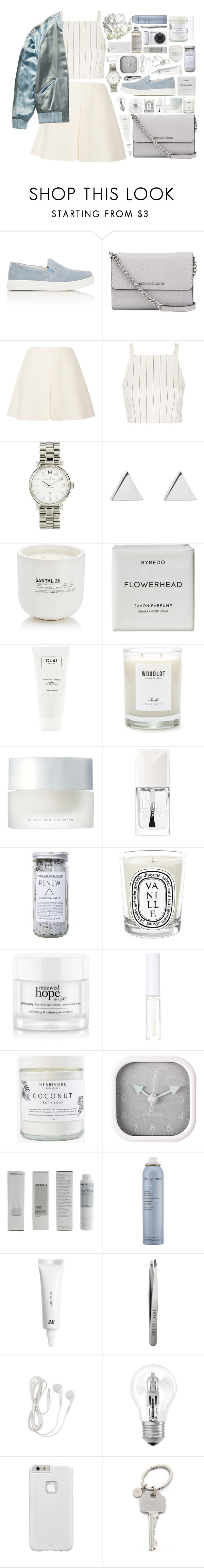 """""""better in time"""" by s-ensible ❤ liked on Polyvore featuring Prada Sport, MICHAEL Michael Kors, Valentino, Topshop, Gucci, Marc by Marc Jacobs, Jennifer Meyer Jewelry, Le Labo, Byredo and Ouai"""