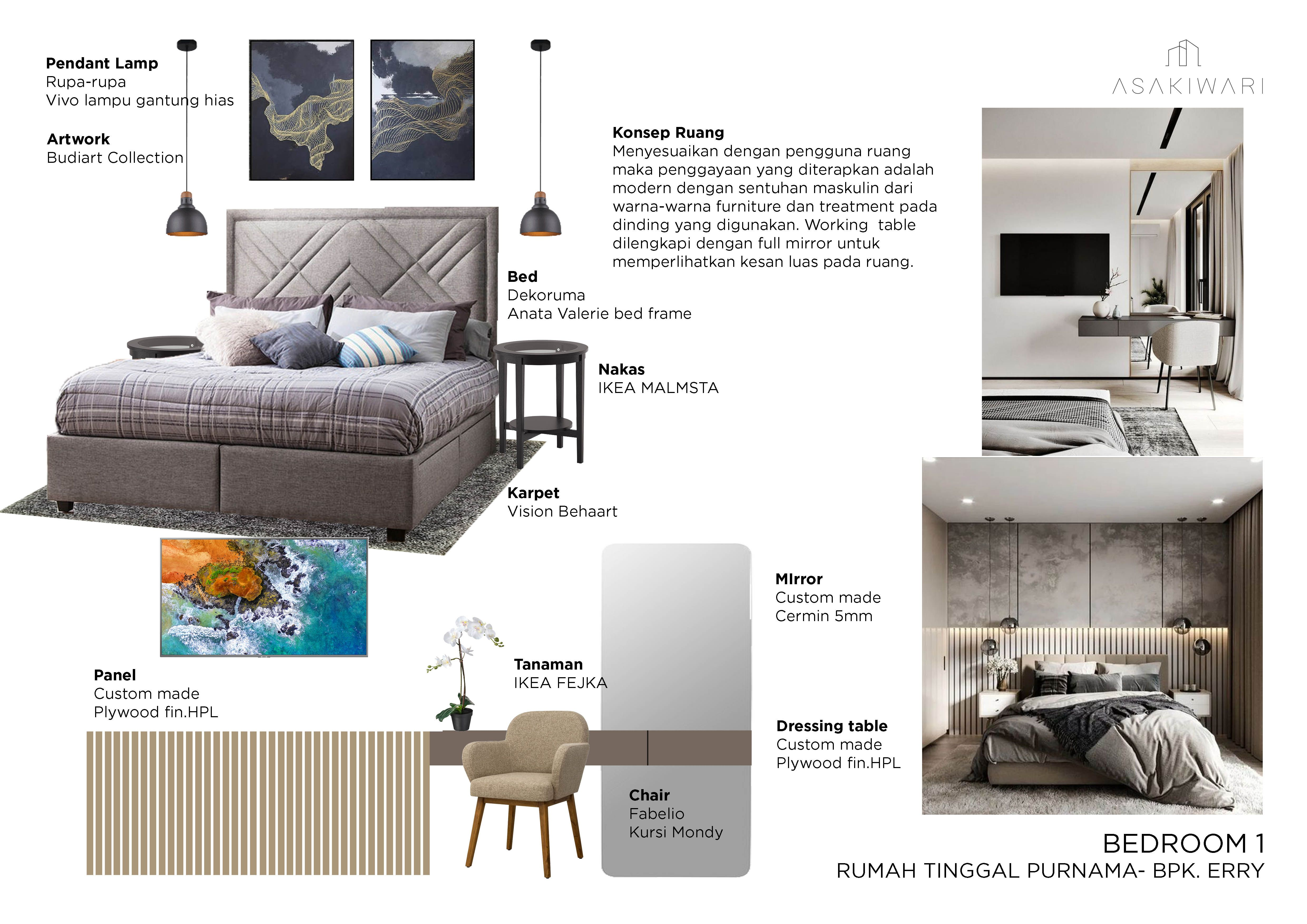 Pin Oleh Eva Ristiani Di Moodboard Nature Home Design Modern bedroom maskulin design