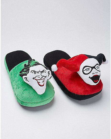 7a9f9e83a8c26d Harley Quinn and The Joker Slippers - DC Comics