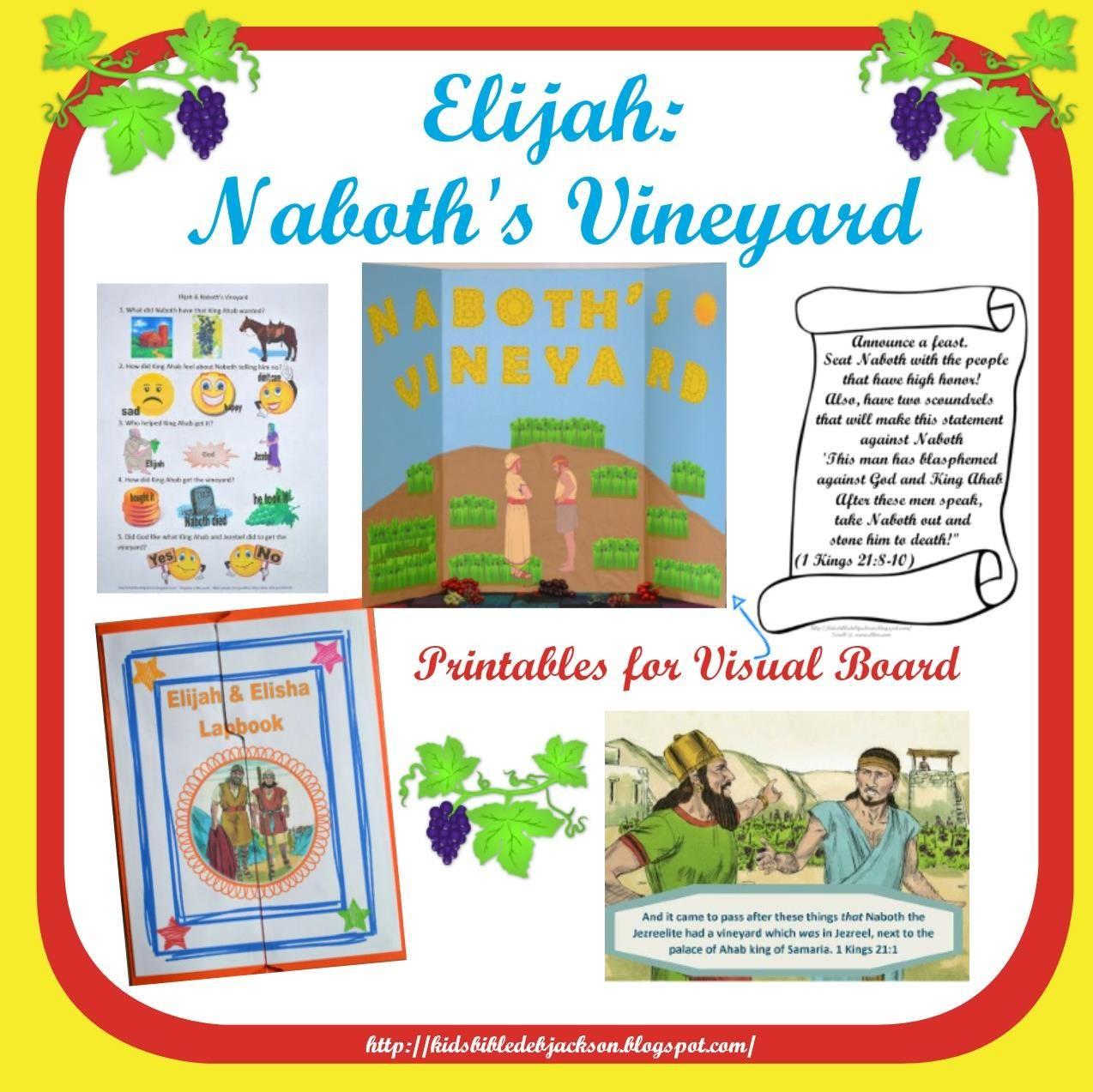 bible fun for kids elijah u0026 naboth u0027s vineyard unit 2 elijah