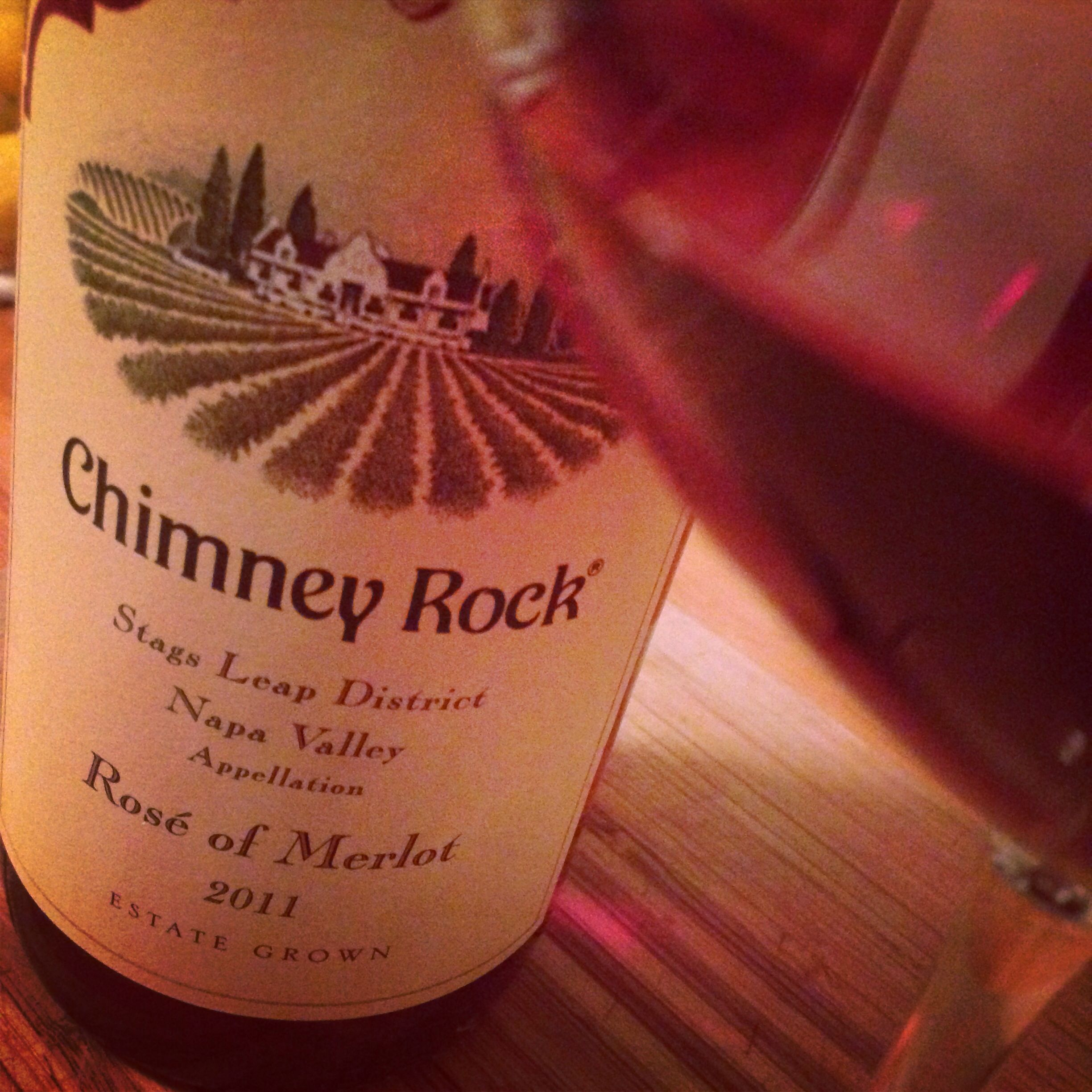 2011 Chimney Rock Merlot Rosé ... Yum!!!