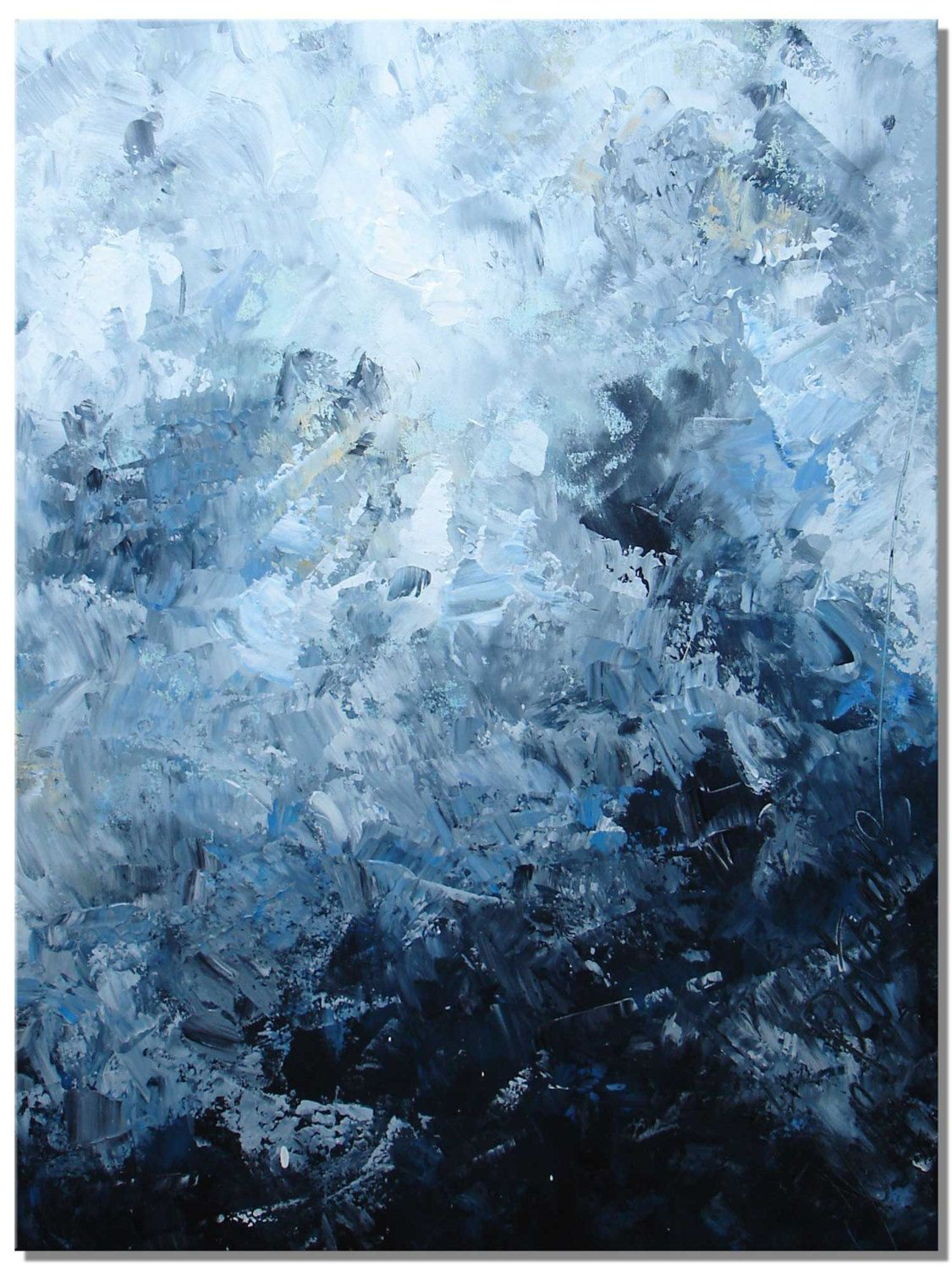 Elena large abstract painting original abstract textured for Texture painting on canvas